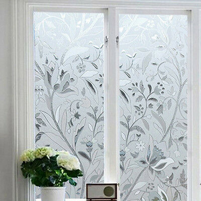 45*100CM UV Proof Static Cling Frosted Stained Flower Glass Window Film Sticker