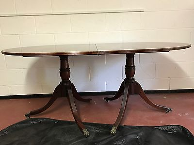 Reproduction antique style Regency pedestal pull out dining table 6 seater