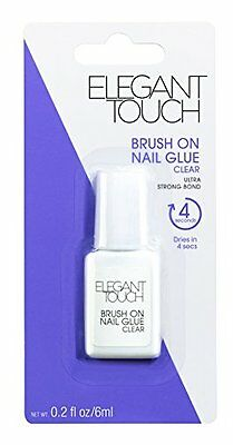 Elegant Touch Brush On Nail Glue Clear 6ml