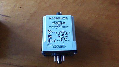 New Macromatic Tr-50222-05 Timer Time Delay Relay 0.1-10 Sec 120 V