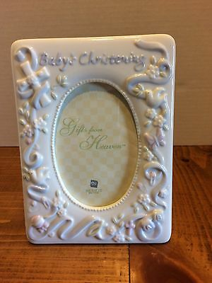 Russ Babys Christening  White Picture Frame
