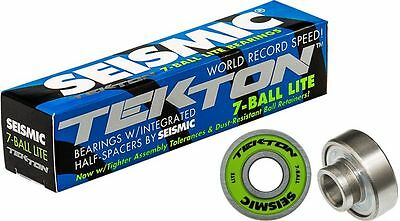 SEISMIC Tekton 7-Ball LITE Bearings Built-in Kugellager Longboard Skateboard