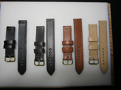 18mm - 20mm Correa Reloj cuero Pulsera Leather Watch Band Strap
