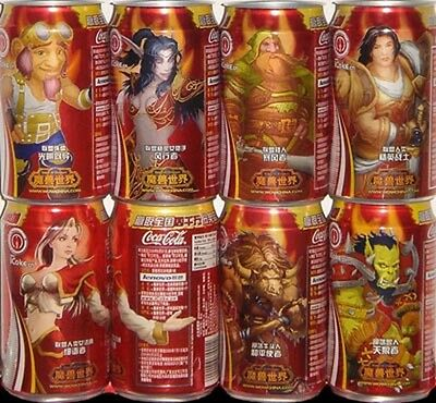 china coca coke cola World of warcraft can empty of 8