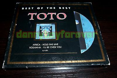 Toto The Best Of Gold Plated Sony NM CD Limited Edition Africa Rosanna Lukather