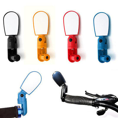 Adjustable Bike Bicycle Cycling Handlebar Rearview Mirror Wide Angle x 1