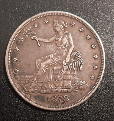 1878-S Trade Dollar - Almost Uncirculated Details - Not Cleaned