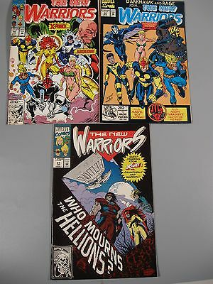 3 Vintage Marvel Comics The New Warriors #19 #22 #31
