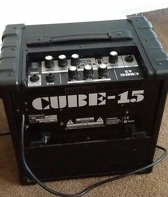 roland cube 15 watt guitar amplifier picclick uk. Black Bedroom Furniture Sets. Home Design Ideas