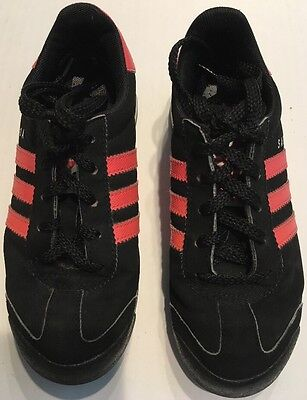Adidas Samoa Black Leather Athletic Shoes w/ Pink/Coral Accents Size 13K