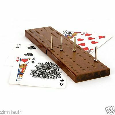 Traditional Family Cribbage Game With Wooden Board Playing Cards Toyrific TY4412