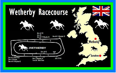 Horse Racing (Wetherby Racecourse) - Souvenir Novelty Fridge Magnet - Gifts