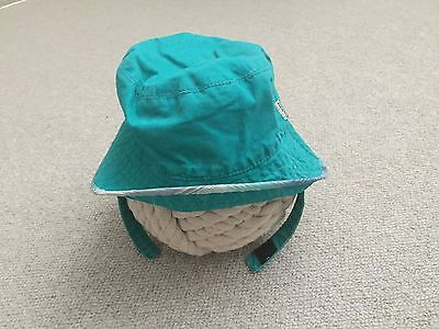 BOYS TED BAKER SUN HAT WITH STRAP 12-18 Mths BEACH Summer HOLIDAY Vgc