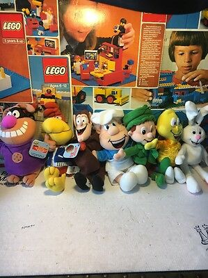 Full Set of 7 General Mills Cereal Breakfast Babies Pals Beanie Plush