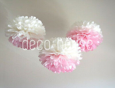 Ombre Tissue Pom Poms Paper Flower Home Wedding Birthday Party Table Decoration