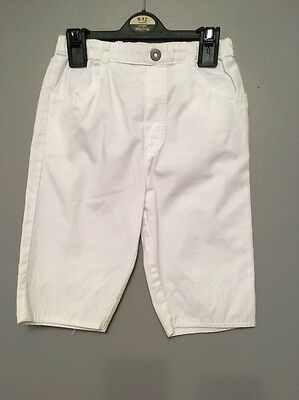 Girls White Three Quarter Length Trousers From Marks & Spencer Age 18-24 Months