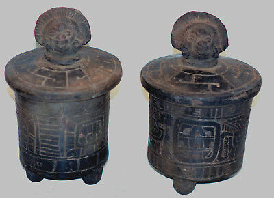 2 Pre Columbian  Pacific Coast Mayan vessels