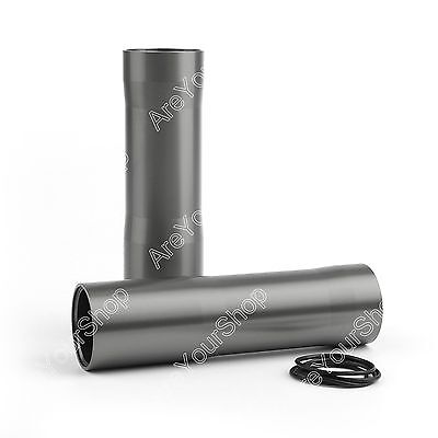 CNC Aluminum Front Fork Tube Covers For Yamaha MT-07 FZ-07 2014-2017 Gray