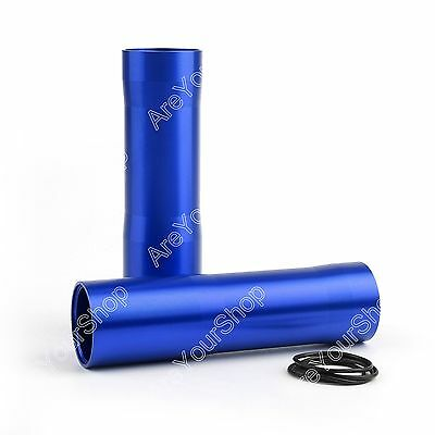 CNC Aluminum Front Fork Tube Covers For Yamaha MT-07 FZ-07 2014-2017 Blue