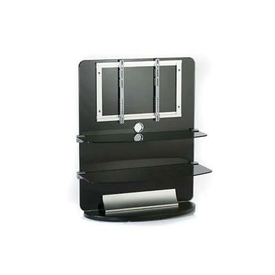 Tv Lcd Plasma Wall Mount Bracket Stand + Glass Shelves *free P&p Special Offer