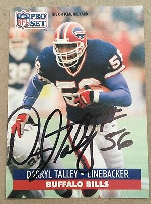 Darryl Talley Autographed 1991 Pro Set Card and a non autographed Bobblehead
