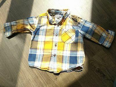 Next boys tartan shirt 6-9 months, great condition