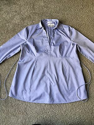 Women's Duo Maternity Stretch Blouse, Light Blue, Size Small