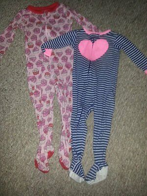 Lot of One Piece Sleeper Pajamas Girls Size 18 months THE CHILDREN'S PLACE