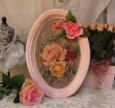 "~ French ~ Country ~ Shabby Chic ~ Decorative ~ Vanity Metal Tray ""Fleurs..."" ~"