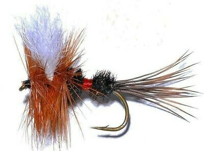 10 Royal Wulff Dry Fly Fishing Flies