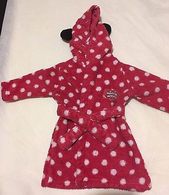 Minnie Mouse Disney Pink Dressing Gown 3-6 Months Girl