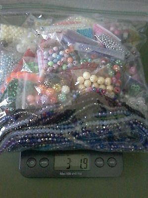 3 LB Lot of Loose Mixed Beads For Crafts and Jewelry Making