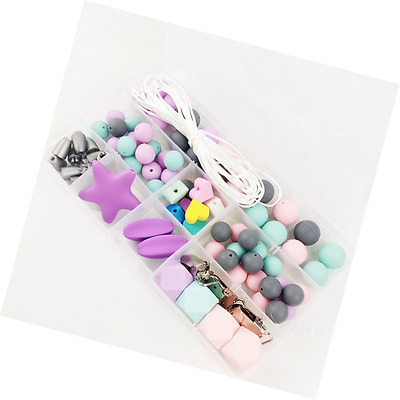 Silicone Teether Beads Diy Accessory Diy Necklace/Pacifier  Nursing Accessories