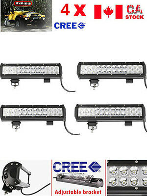 4X 12Inch 72W Cree Led Light Bar Work Spot Flood Combo Lamp Offroad Suv Atv 4Wd