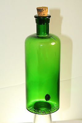Rare Color Green Bruen Ritchey & Co Apothecary Medicine Drug Store Bottle 7 1/2'