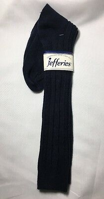Vintage Jefferies Women's 9-11 Acrylic Knee High Hi Socks Navy Blue New With Tag
