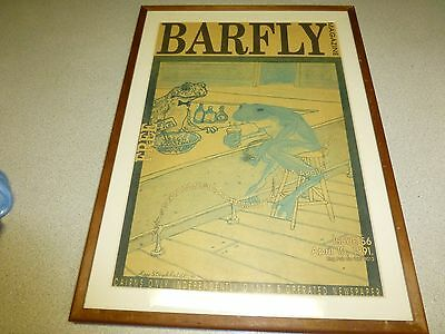 Vintage Barfly Magazine Print, Great for Bar or Man Cave