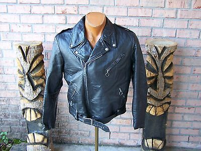 Vintage 1960s Brooks Leather Motorcycle Jacket