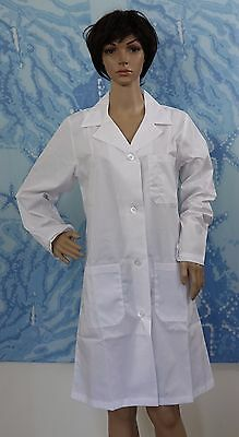 Natural Uniforms PRISM MEDICAL white button Unisex 40 Inch Lab Coat, size XS