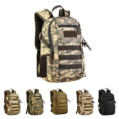 0860c33dbee4 12L Mini Durable Daypack MOLLE Backpack Hiking Pack Bag for Hunting Camping