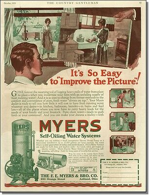 1928 Myers self-oiling water systems improve your home print-ad