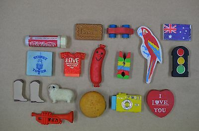 Collection Of Old Vintage Erasers Rubbers
