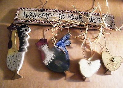WELCOME TO OUR NEST country CHICKEN hen rooster chick kitchen decor sign