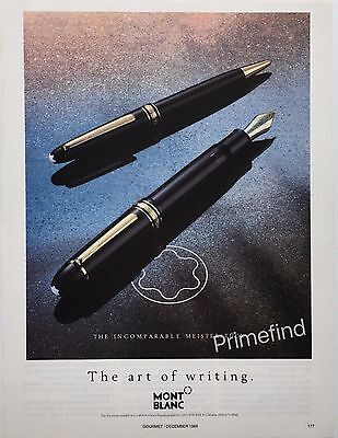 1988 MONT BLANC The Art of Writing Pens Photo Original PRINT AD