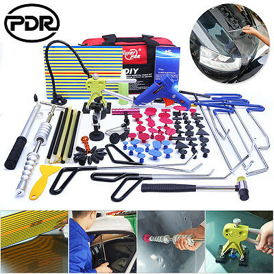 Paintless Dent Removal Repair PDR Spring Steel Rods Tools Dent Lifter Hammer Set