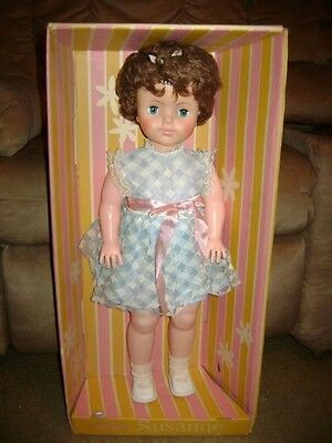 RARE VINTAGE Eegee Susanne Walking Doll...NEW IN BOX...24""