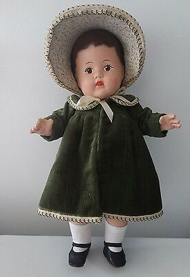 Antique English Pedigree composition toddler doll 16""