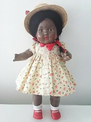 Antique New Zealand composition toddler doll 14""