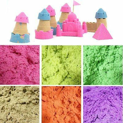 Kids Fun Play Magic Space Kinetic Sand Squeezable Educational Toy Moulding Tools