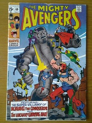 Avengers V1 #69 (1969) Silver Age Marvel Comics - Kang The Conqueror